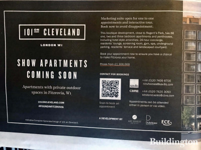 101 on Cleveland development advertisement in The Sunday Times newspaper.