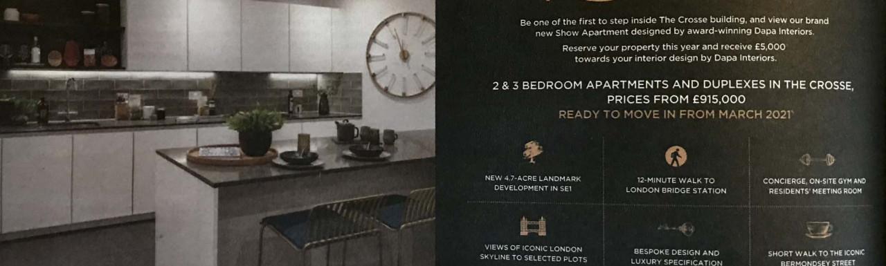 London Square Bermondsey development advertisement in The Sunday Times newspaper.