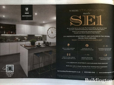 London Square Bermondsey development advertisement in The Sunday Times newspaper.
