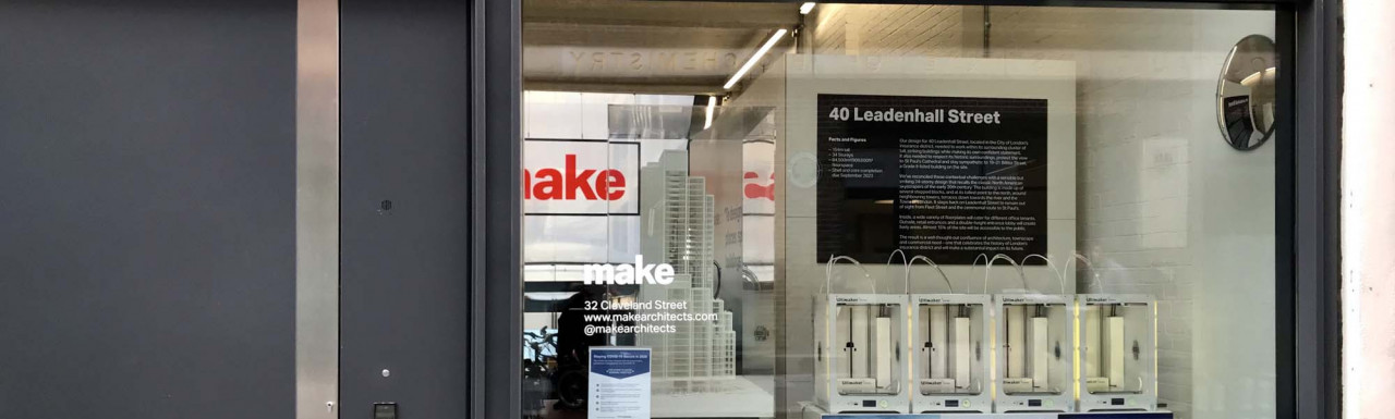 Make office window at Middlesex House on Cleveland Street in Fitzrovia, London W1.