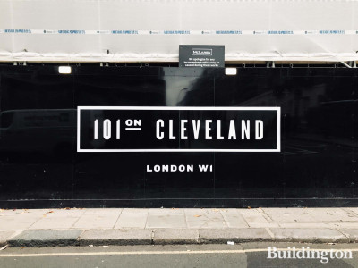101 on Cleveland development by Dukelease in Fitzrovia, London W1.
