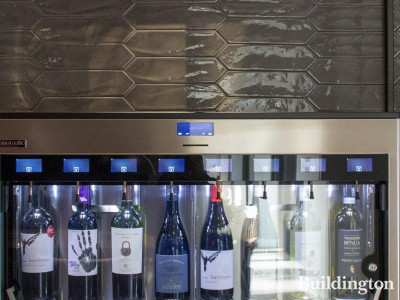 Humble Grape's wine dispenser in the residents' lounge at 10 George Street.