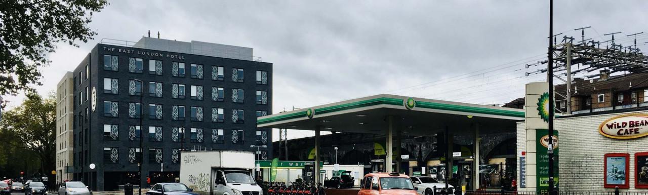 BP petrol station on Cambridge Heath Road in Bethnal Green.
