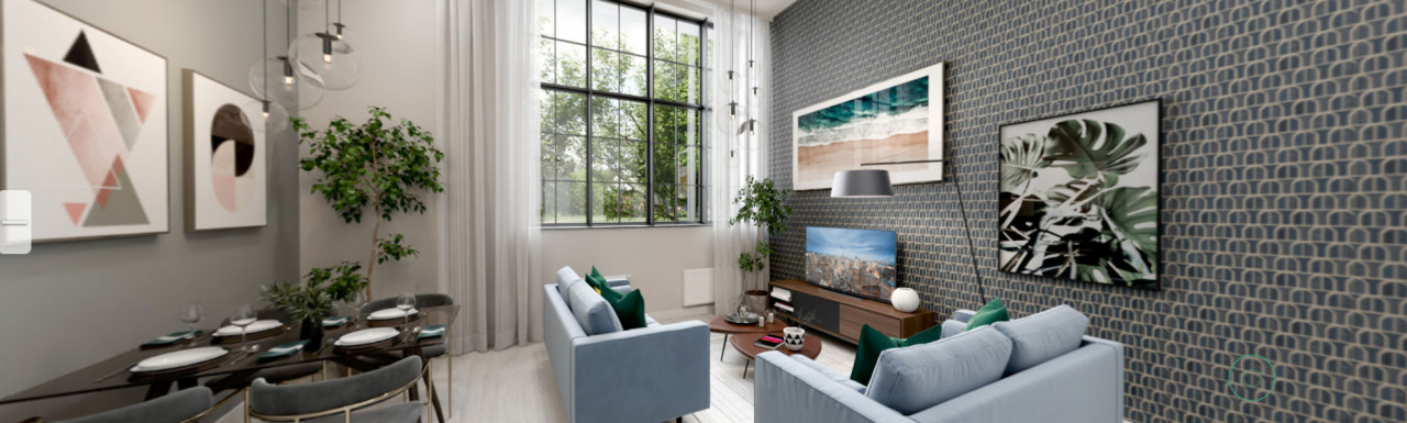 Photo of the virtual tour of Plot 7, a 1-bedroom apartment for sale at Nestle Apartments within Hayes Village development.