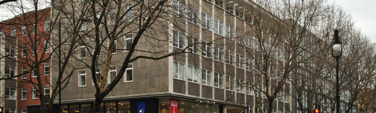 Network Building on Tottenham Court Road in 2012.