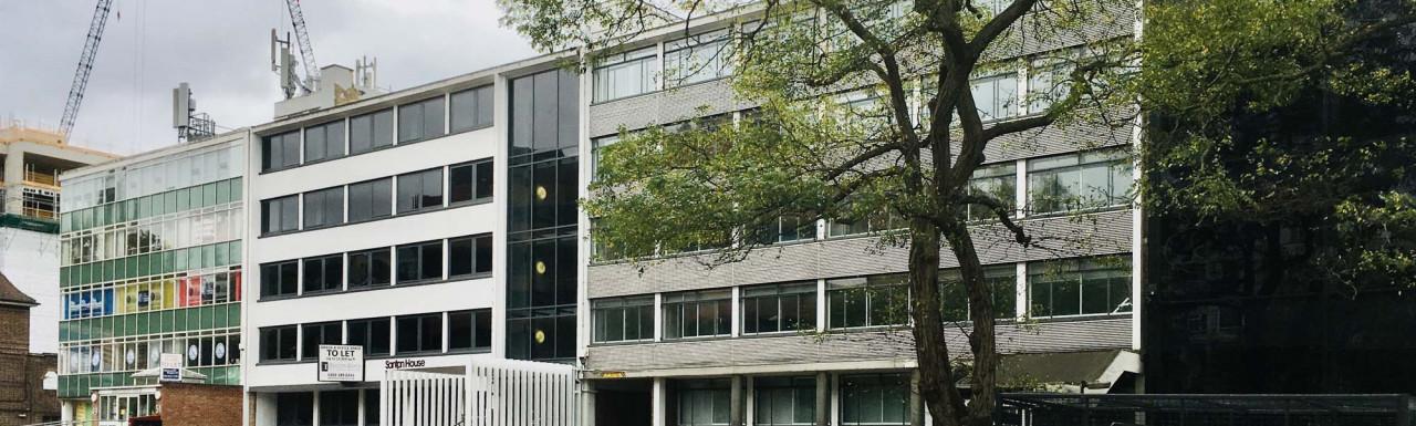 Santon House office building at 53-55 Uxbridge Road in Ealing, London W5.