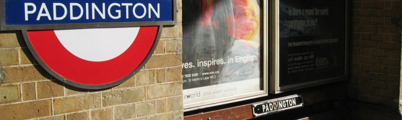 Inside Paddington Station.