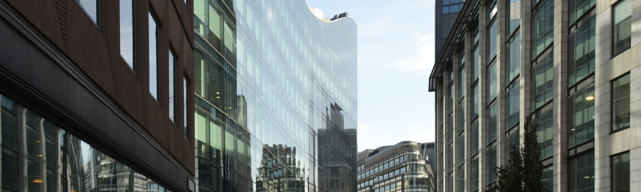 From left: 13 St Andrew Street, Plumtree Court, River Court and Athene Place at 66-73 Shoe Lane in London EC4.