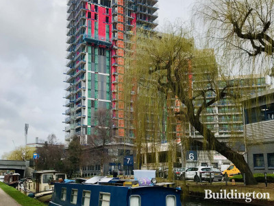 Minavil House development by the Grand Union Canal in Alperton. View from across the canal next to 243 Ealing Road development.