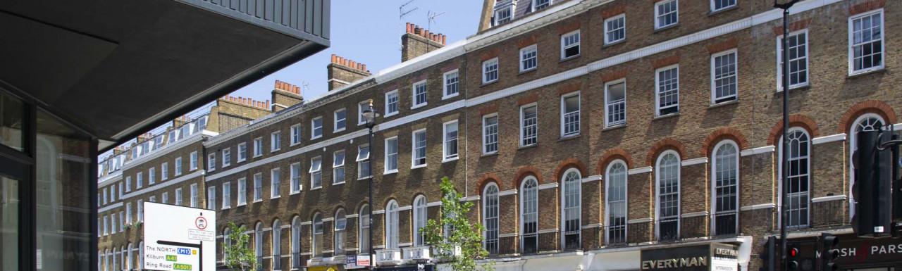 96-98 Baker Street building in Marylebone, London W1. Boots, Everyman Cinema and Marsh & Parsons on the ground floor premises.