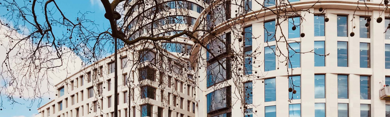 The Bryanston apartments and Marble Arch Place development designed by architect Rafael Viñoly.
