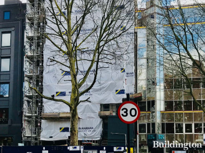 The development of the first Motto by Hilton hotel on Old Marylebone Road. Main Contractor McNamara on site.