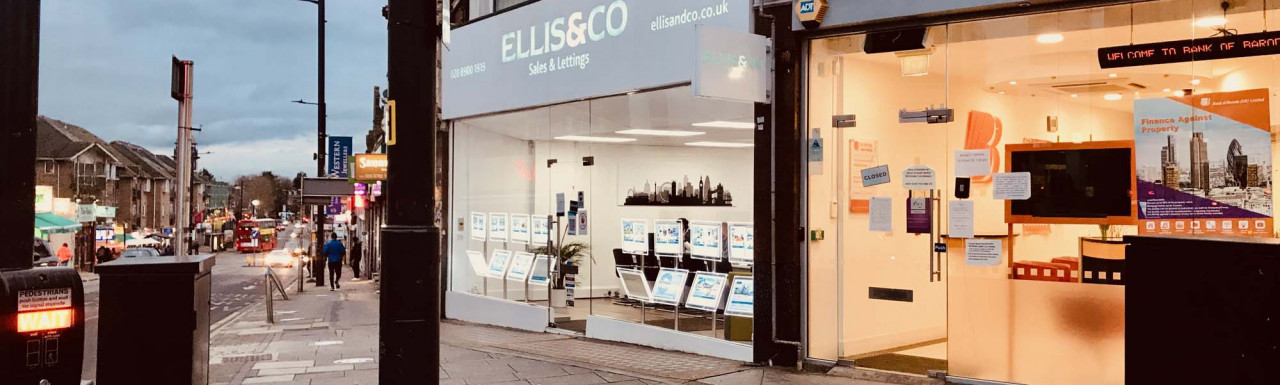 Estate agent Ellis & Co office at 4 Ealing Road Wembley HA0.  8.03.2021