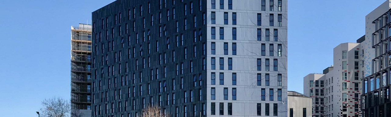 Citadines Wembley London building in spring 2021 before the opening. View from Yellow Car Park.