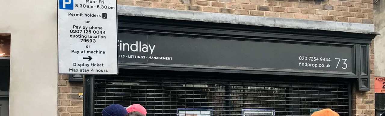 Findlay estate agency offices at 73 Broadway Market.