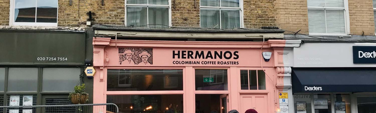 Hermanos Colombian Coffee Roasters at 15 Broadway Market in London E8.