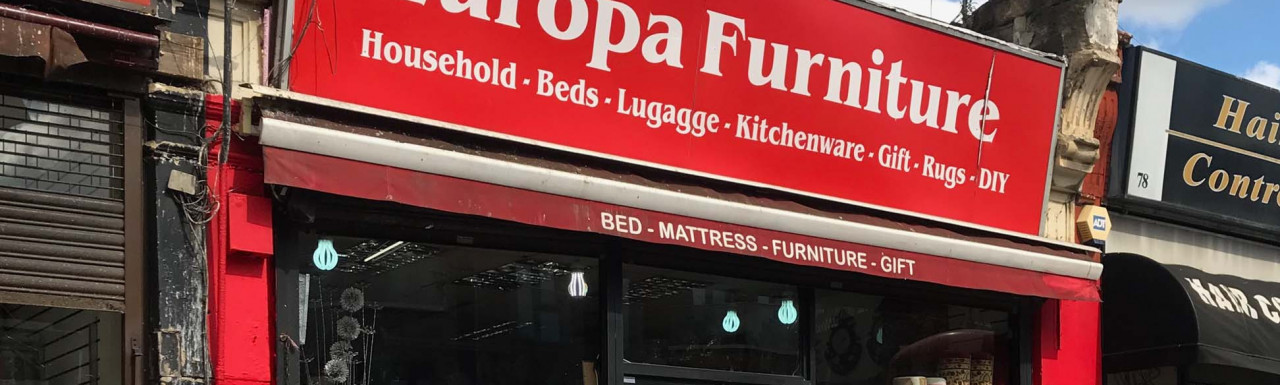 Europa Furniture at 80 Craven Park Road in London NW10.
