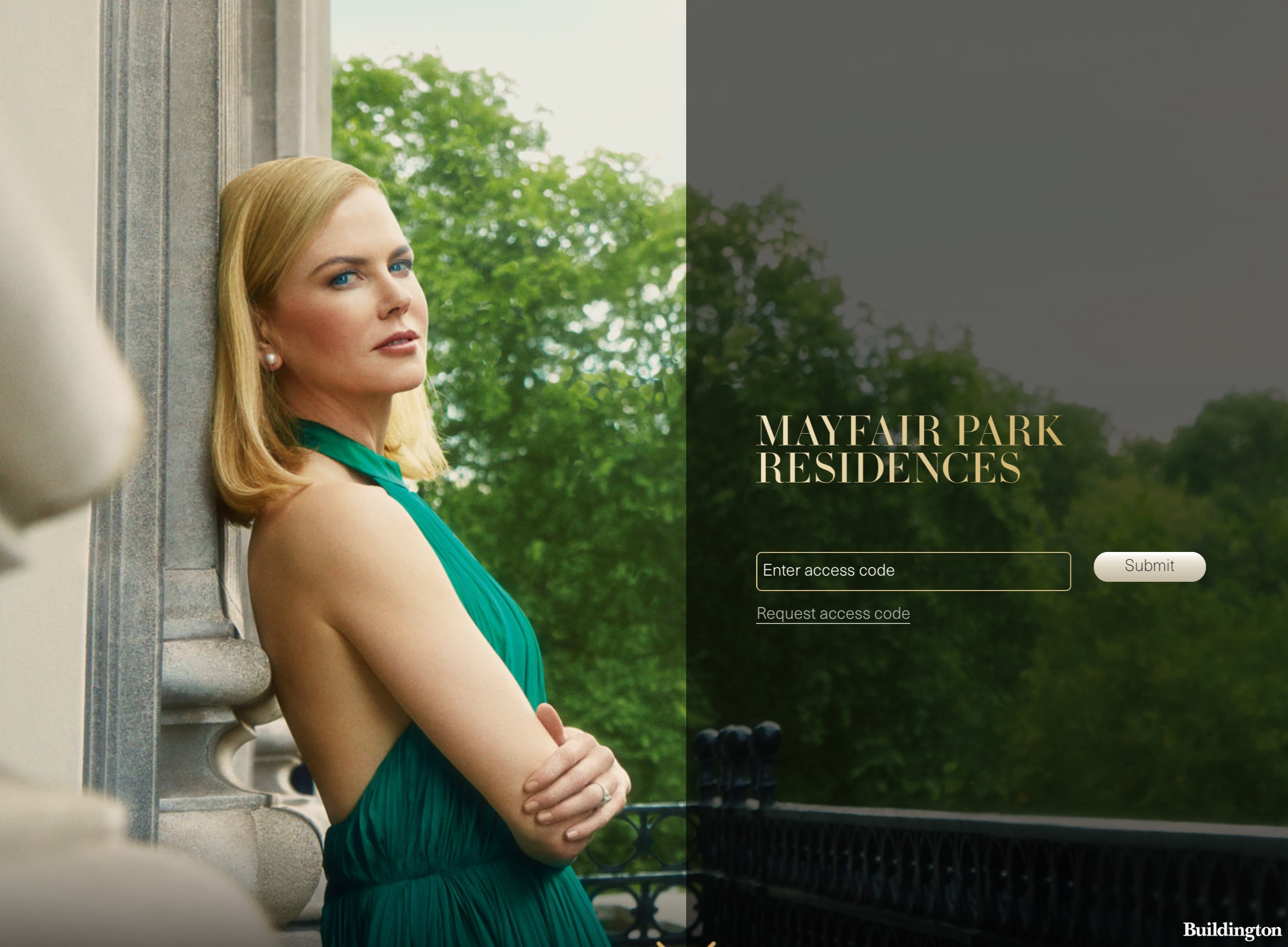 Nicole Kidman on Mayfair Park Residences website at Mayfairparkresidences.com in May 2017; screen capture.