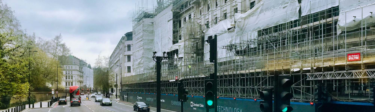 Cleveland Clinic development on Grosvenor Place is nearing completion.