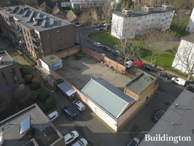 Aerial view of 304-314 Lynton Road site.