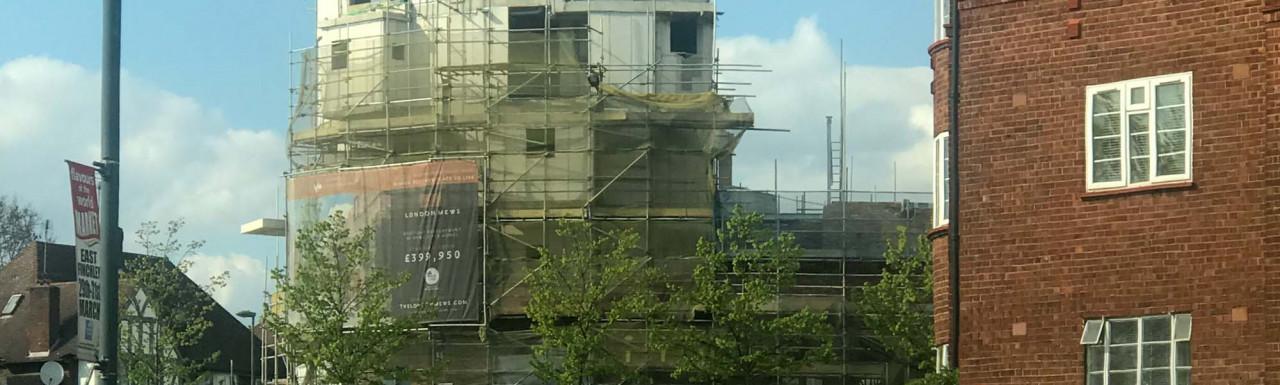 London Mews development under construction.