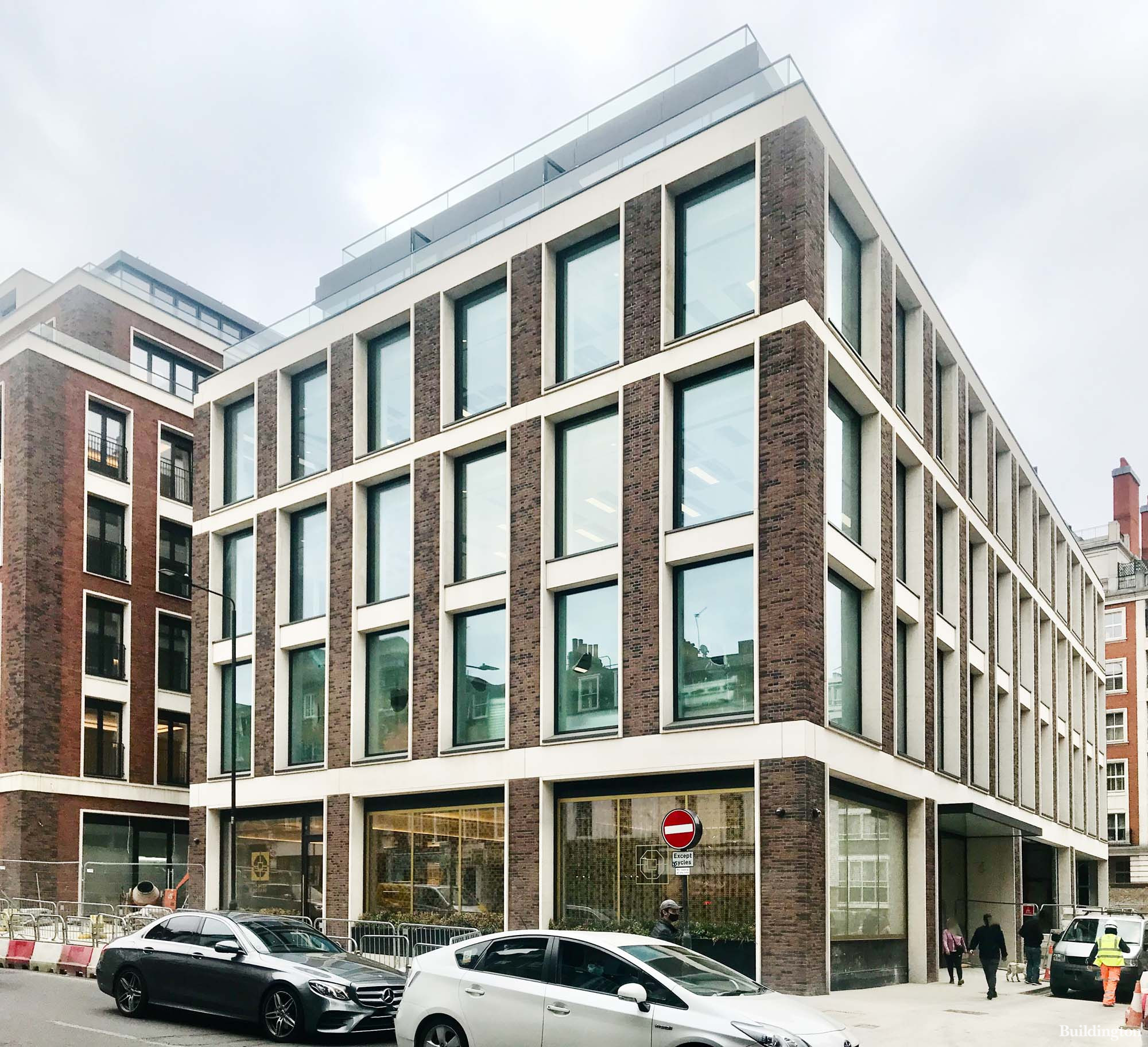 Lancer Square development on Kensington Church Street in London W8.