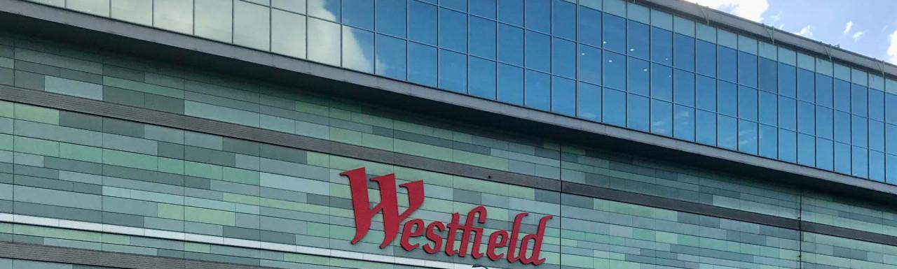 Westfield building West Cross Route elevation.