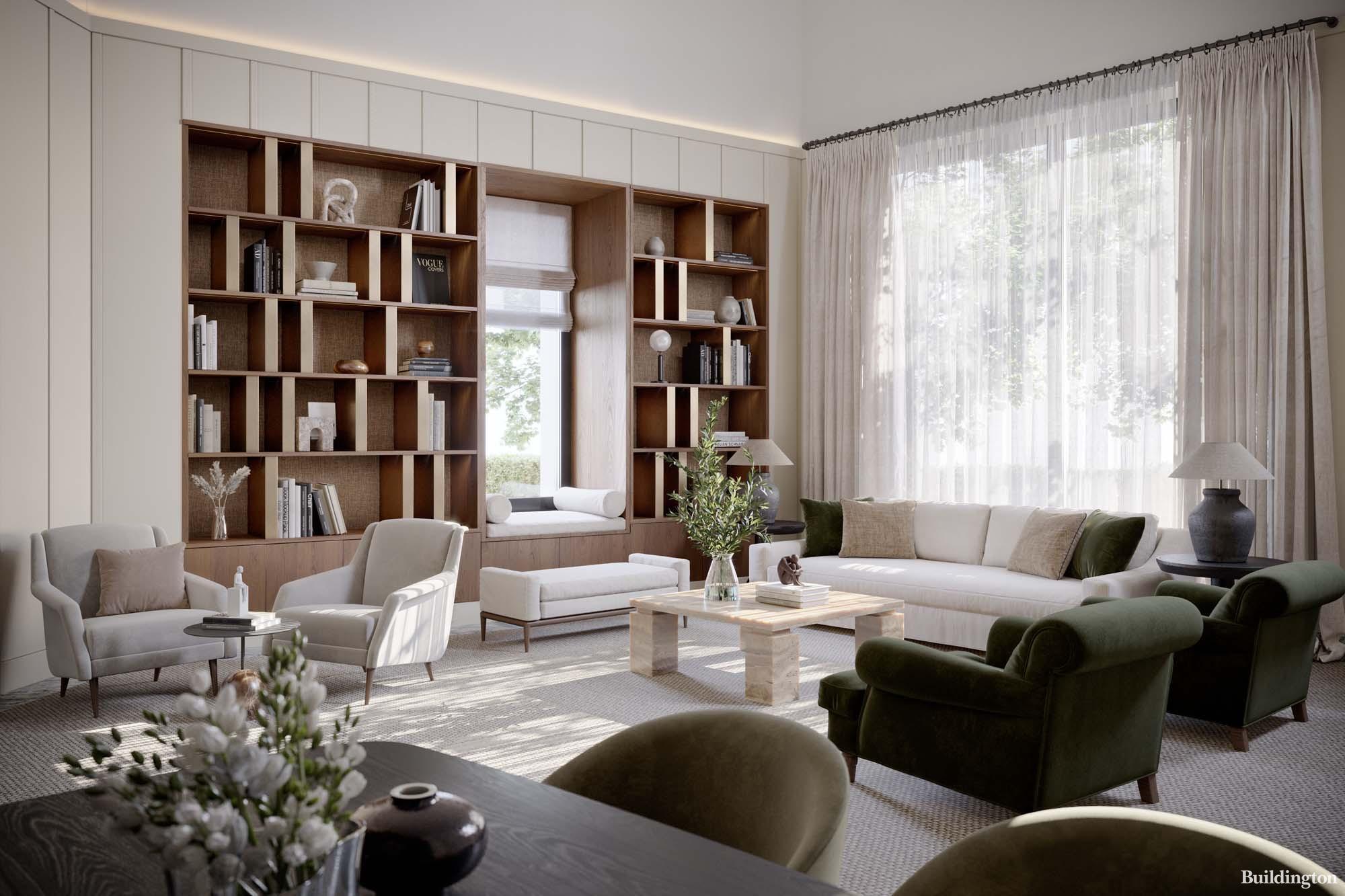 Fitzjohn's Club Lounge is designed by luxury design studio 1508 London.