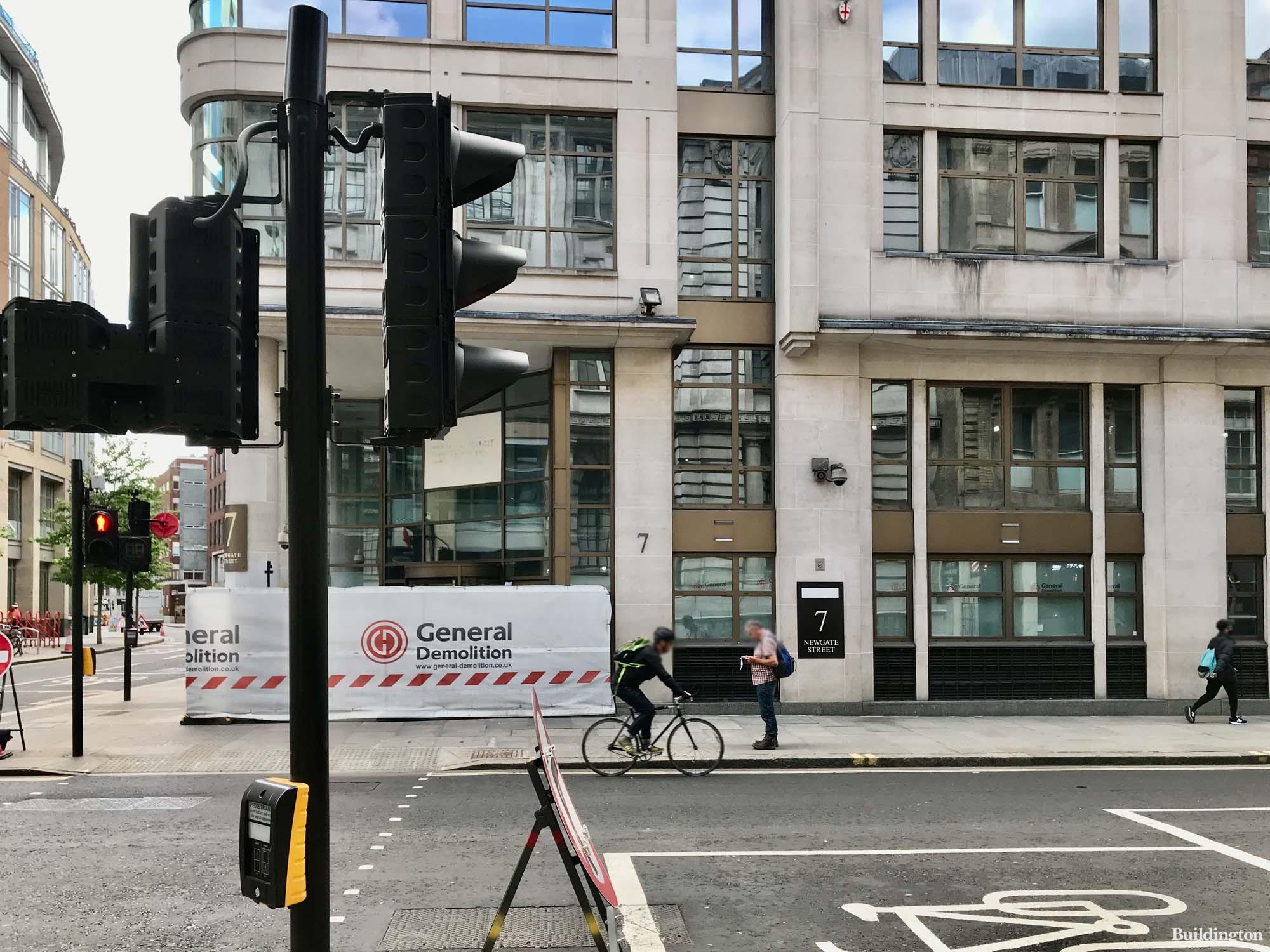 General Demolition on site at 7 Newgate Street in London EC1.