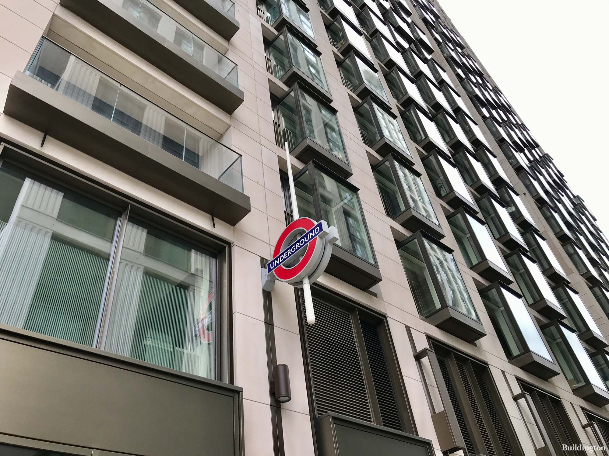 8 Casson Square apartments above Waterloo Tube Station. Building designed by Patel Taylor.