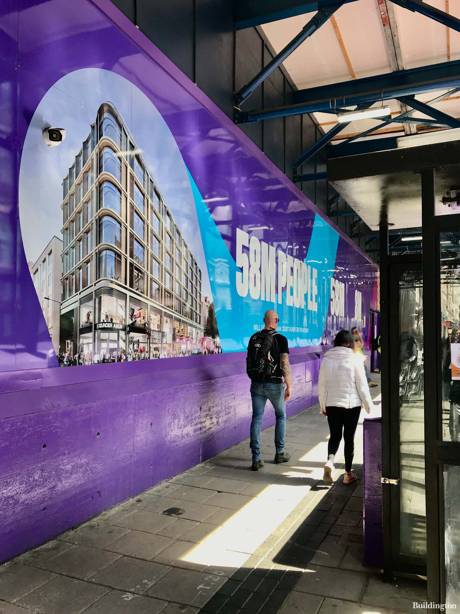 58 million people were expected to use the Tottenham Court Road Crossrail Station in 2021, which is across the road from 70-88 Oxford Street retail space.