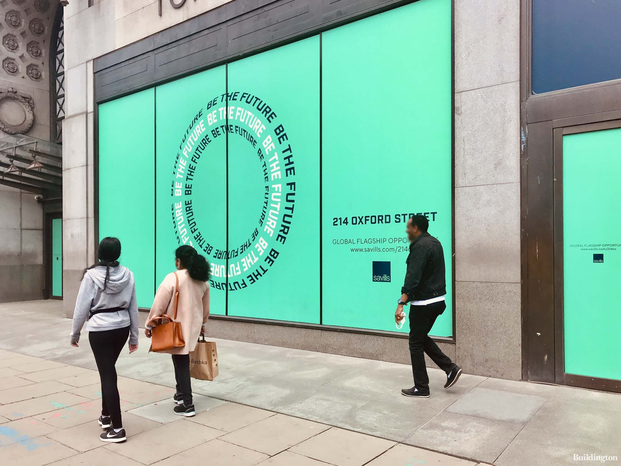 Be the future of a global flagship opportunity. Savills at 214 Oxford Street in May 2021.