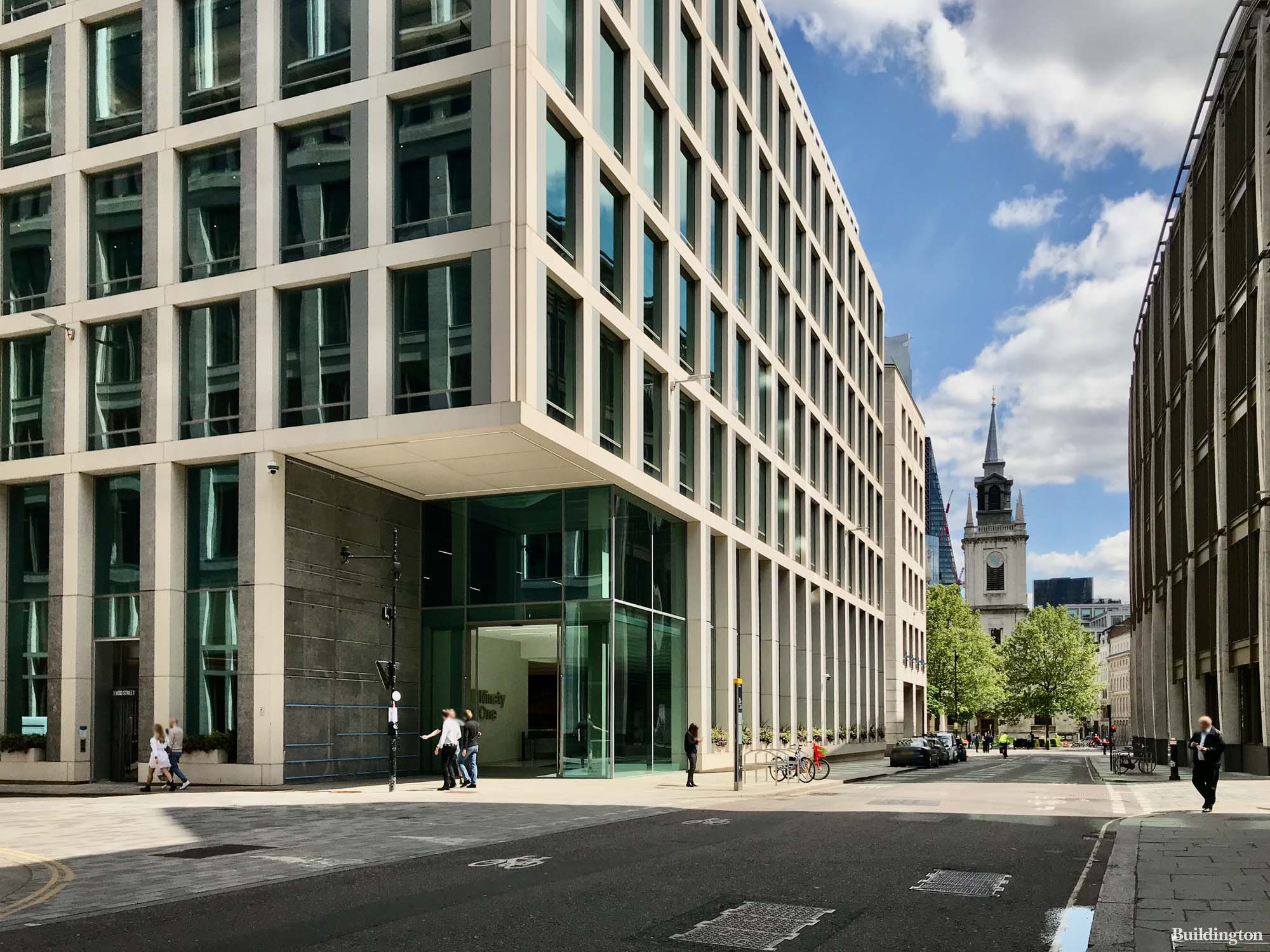 55 Gresham Street building designed by Fletcher Priest Architects.