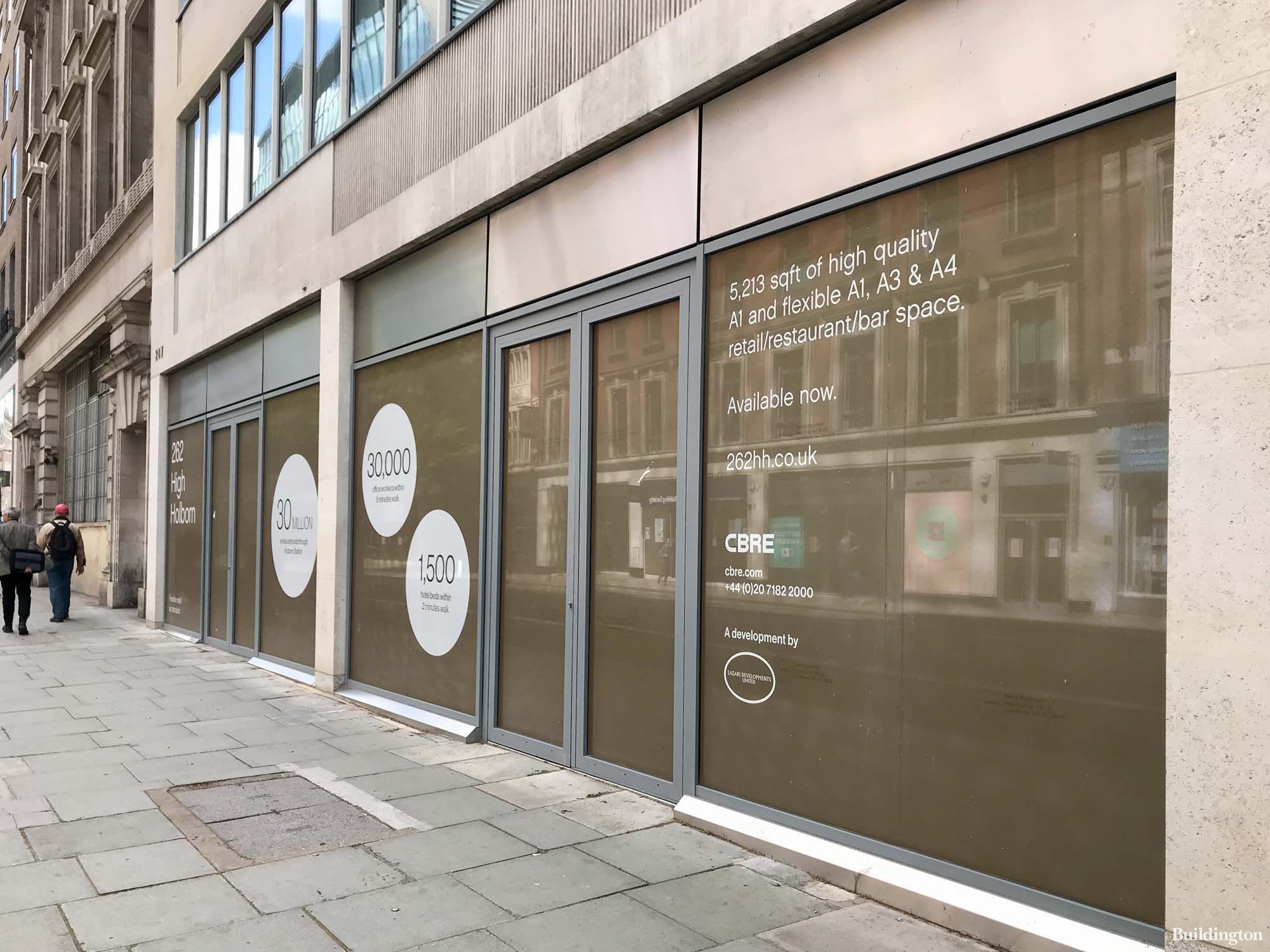 262 High Holborn restaurant/retail space to let by CBRE.