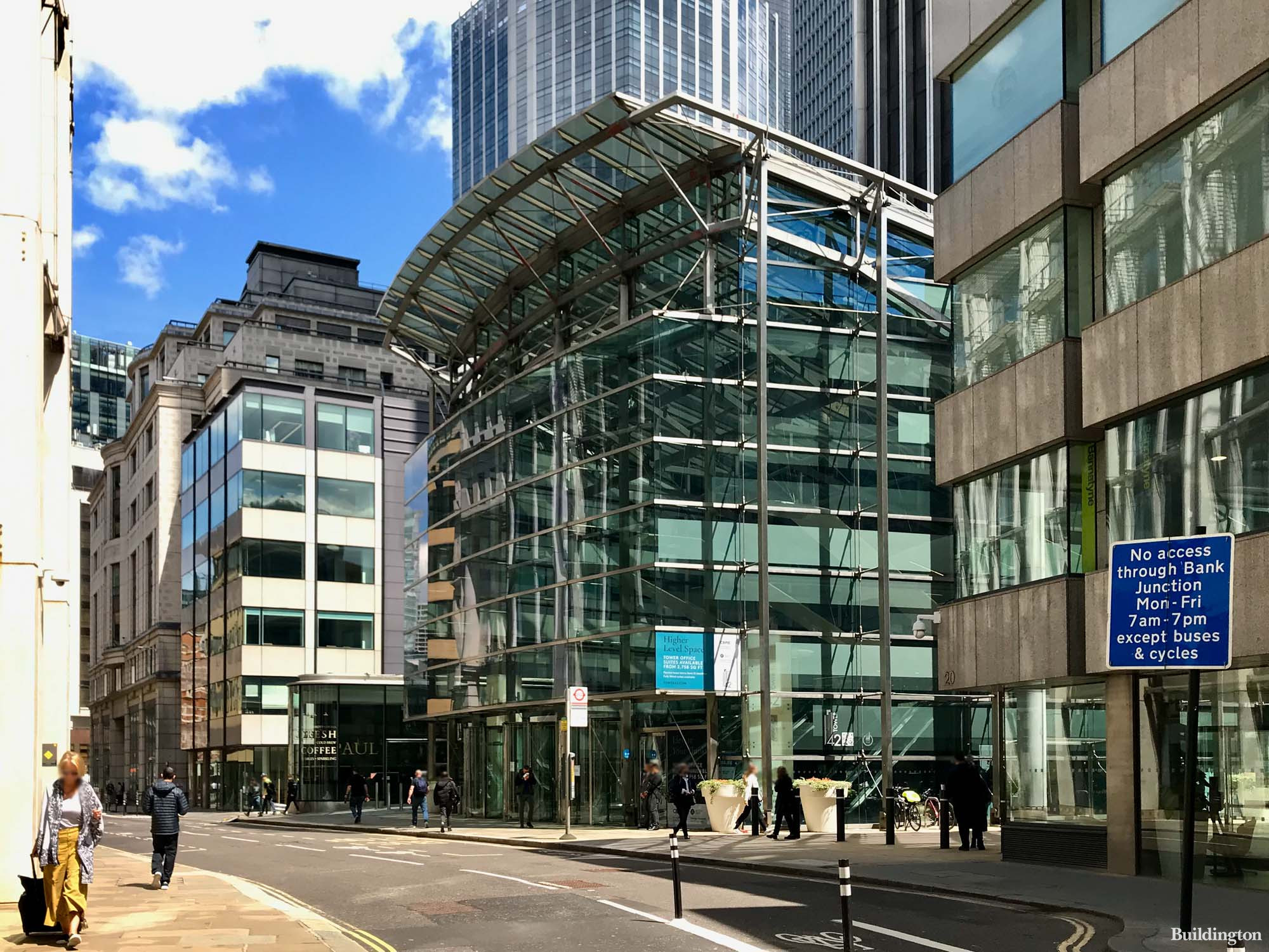 Entrance to Tower 42 on Old Broad Street in the City of London EC2.