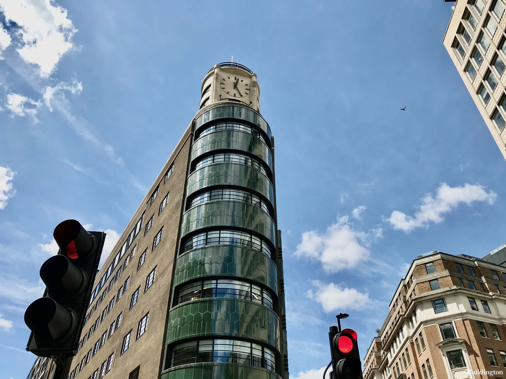 1 New Oxford Street clock tower designed by ORMS.