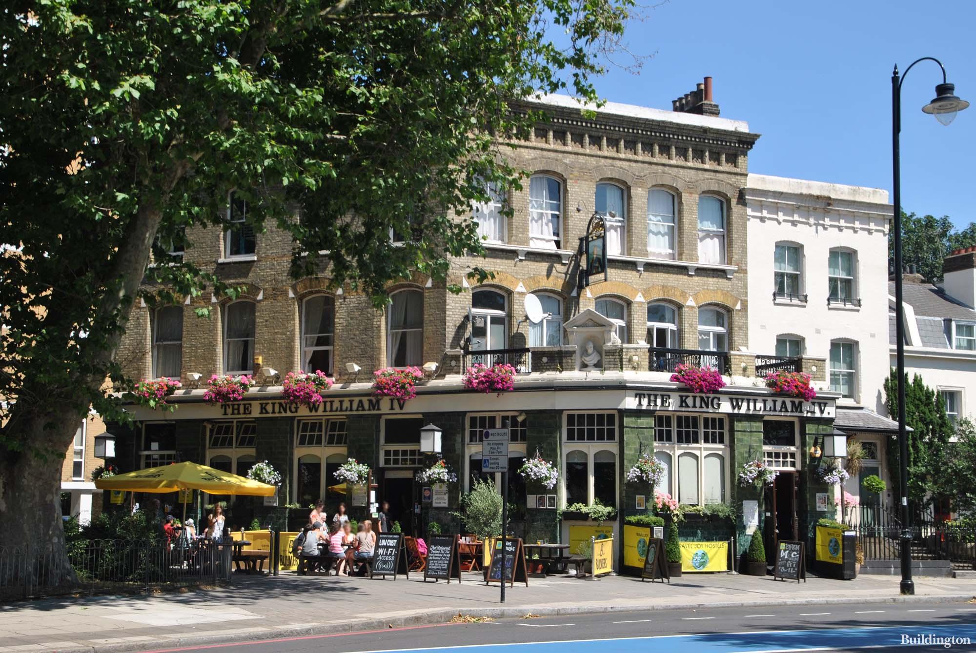 The King William IV at 111 Grosvenor Road in Pimlico, London SW1.