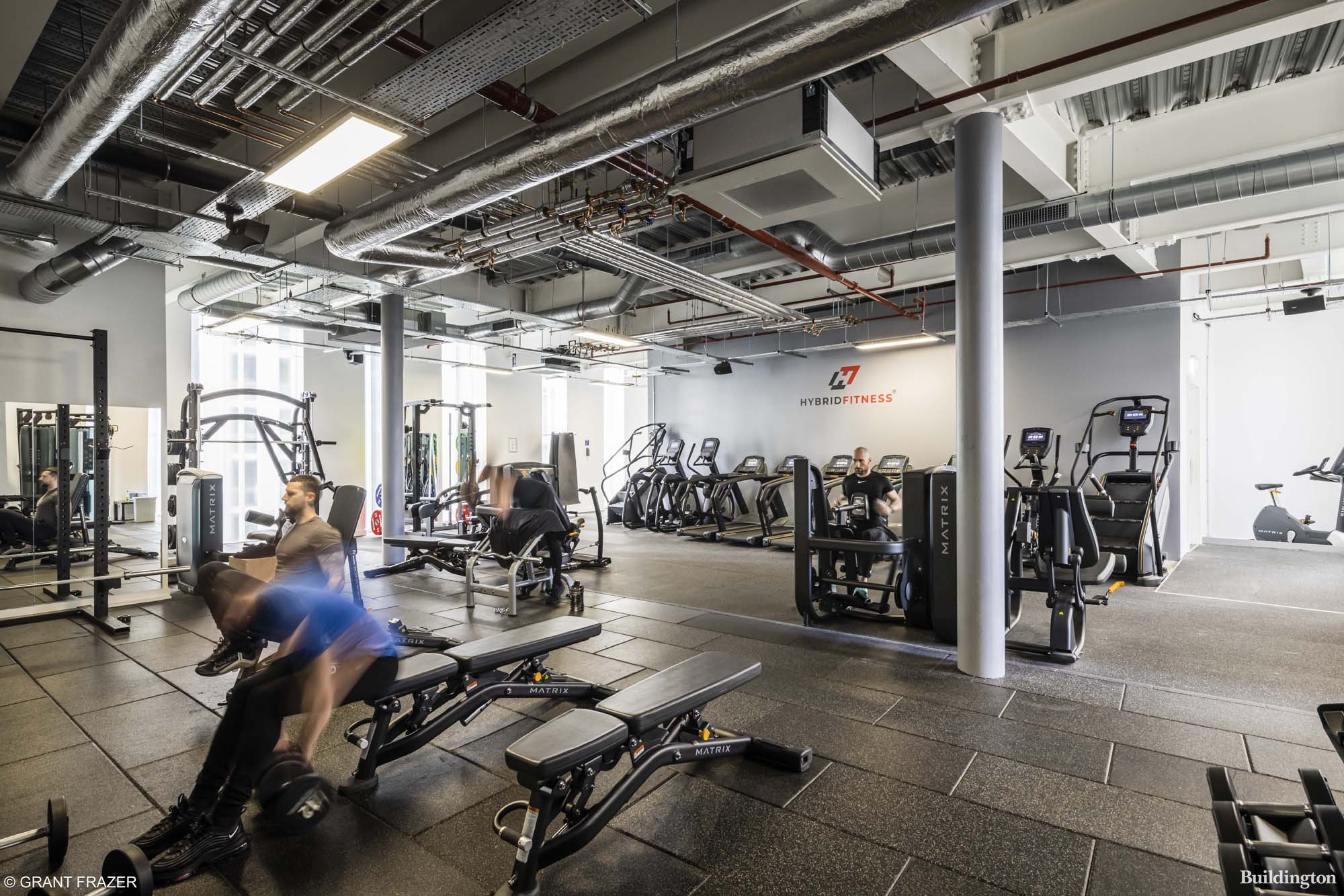 Hybrid Fitness gym at Stratus Point, Harbour Central development in London E14.