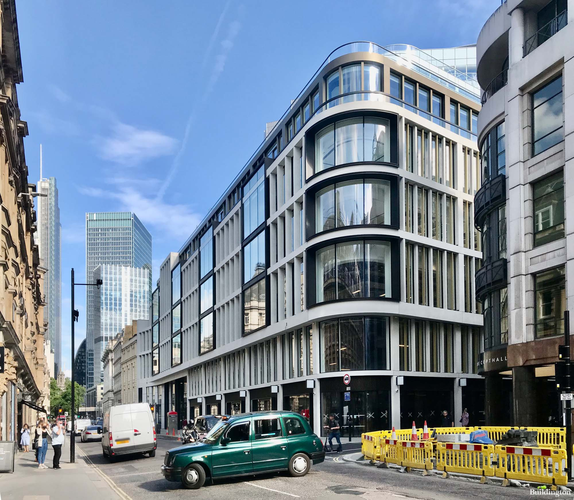 60 London Wall new office building designed by EPR Architects in London EC2.