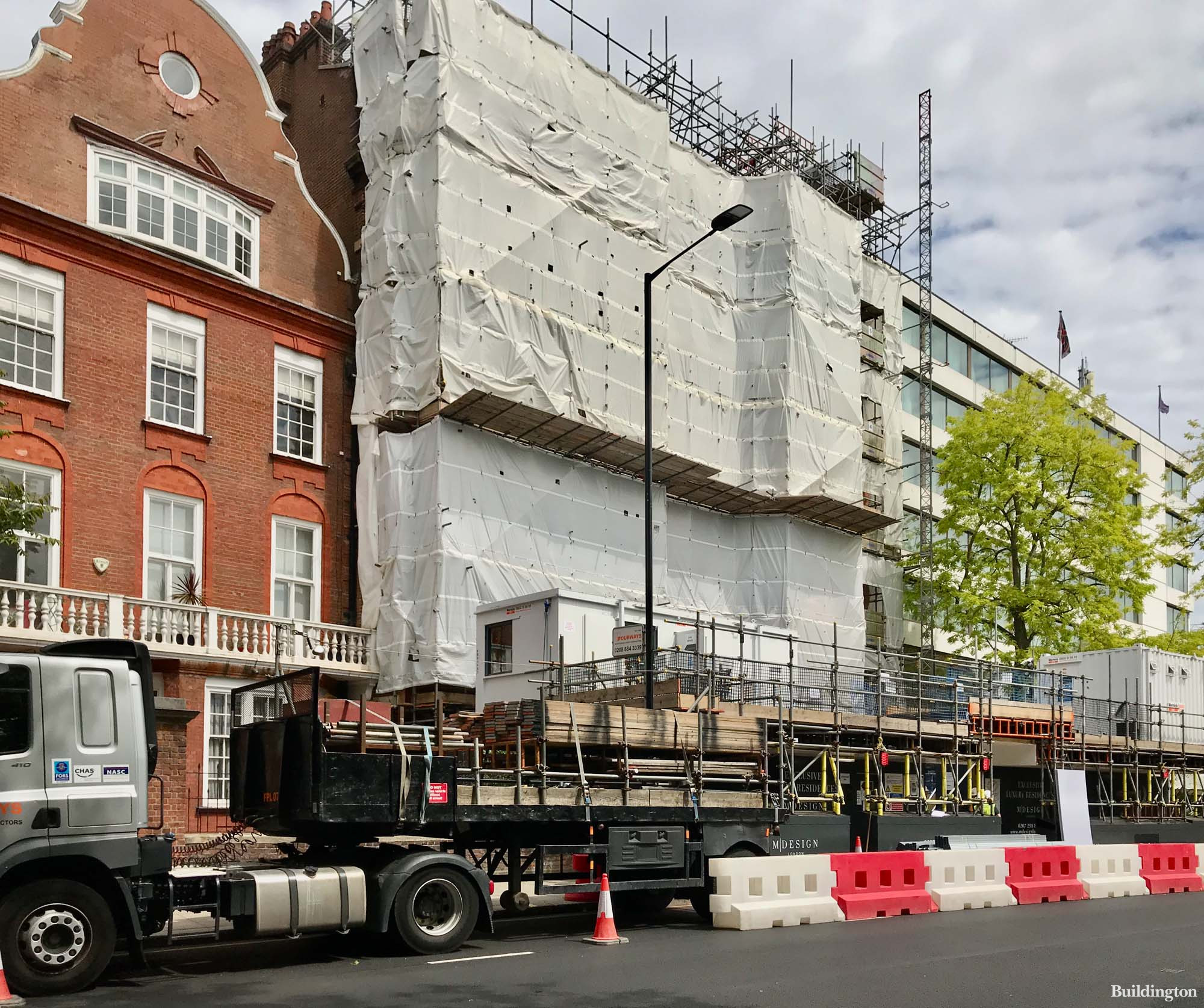 Palace Court Residences development on Bayswater Road in London W2.