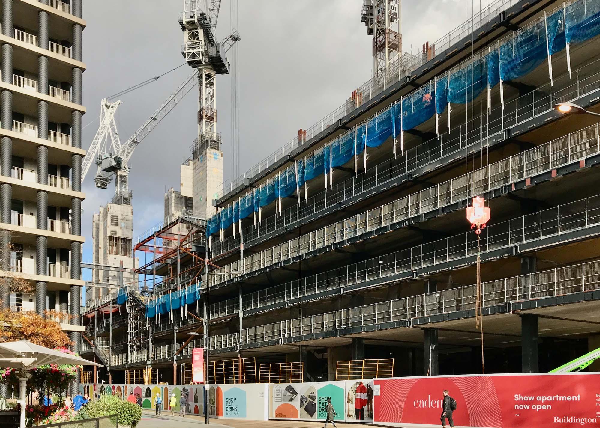 Google HQ under construction in King's Cross, London N1C.