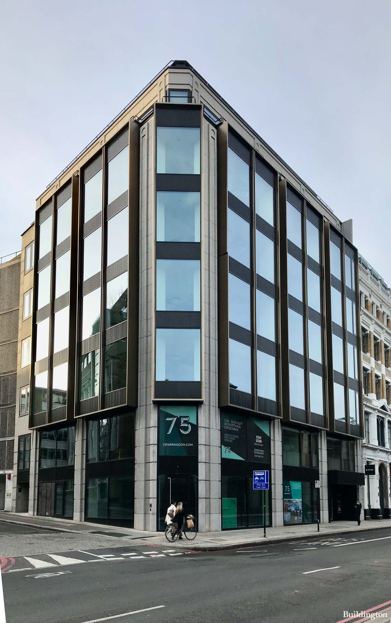 75 Farringdon Road building redeveloped by Orchard Street to the designs by Buckley Gray Yeoman.