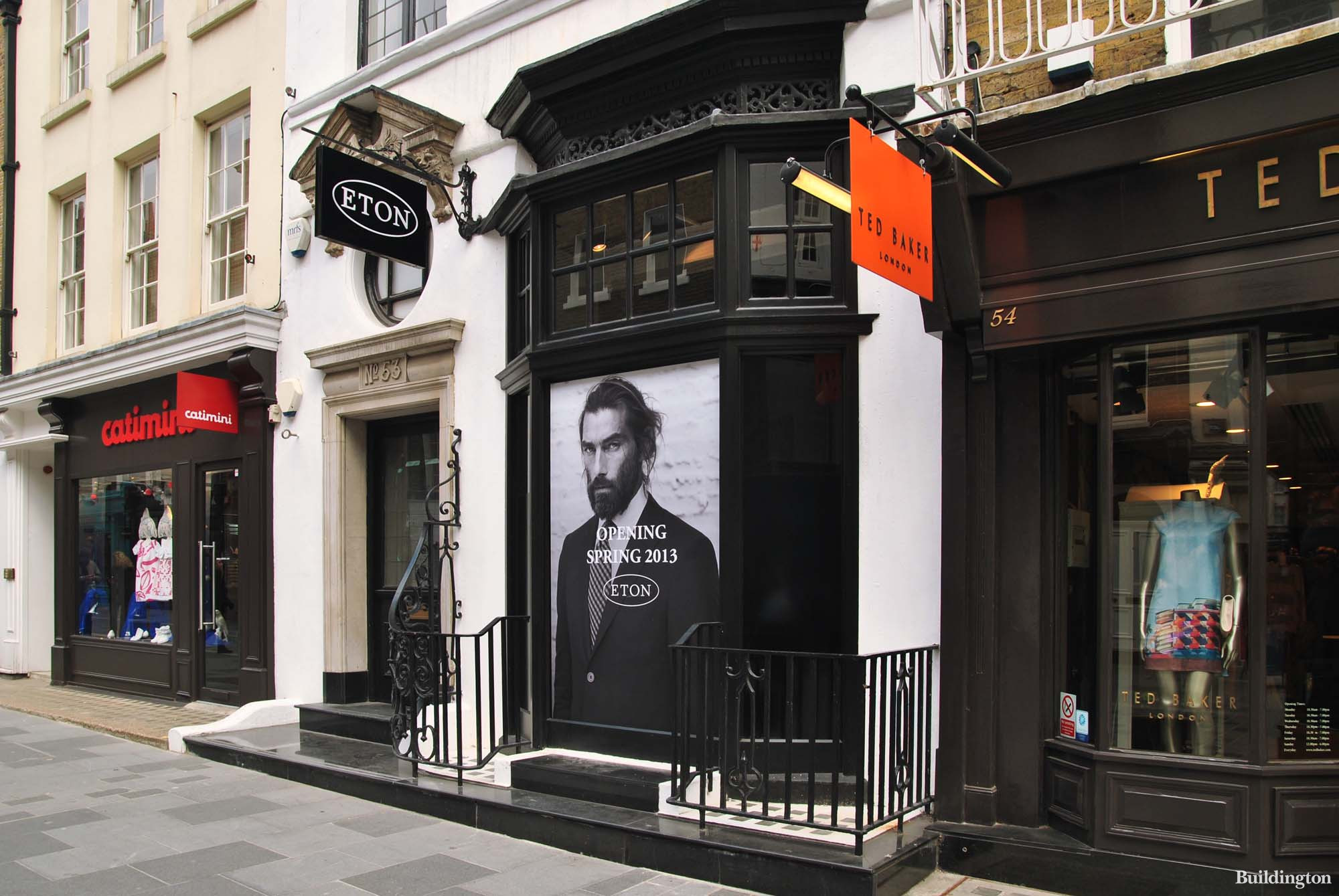 Eton store opening at 53 South Molton Street in 2013.