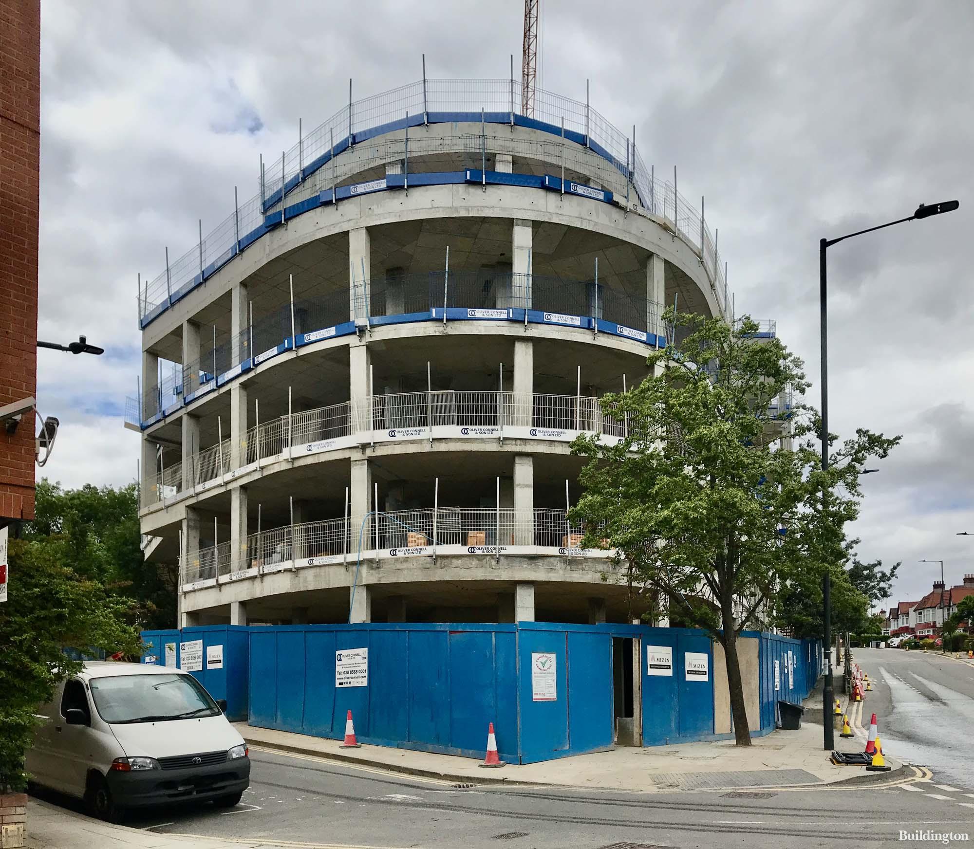 Heron House development under construction in Wembley, Greater London HA9.