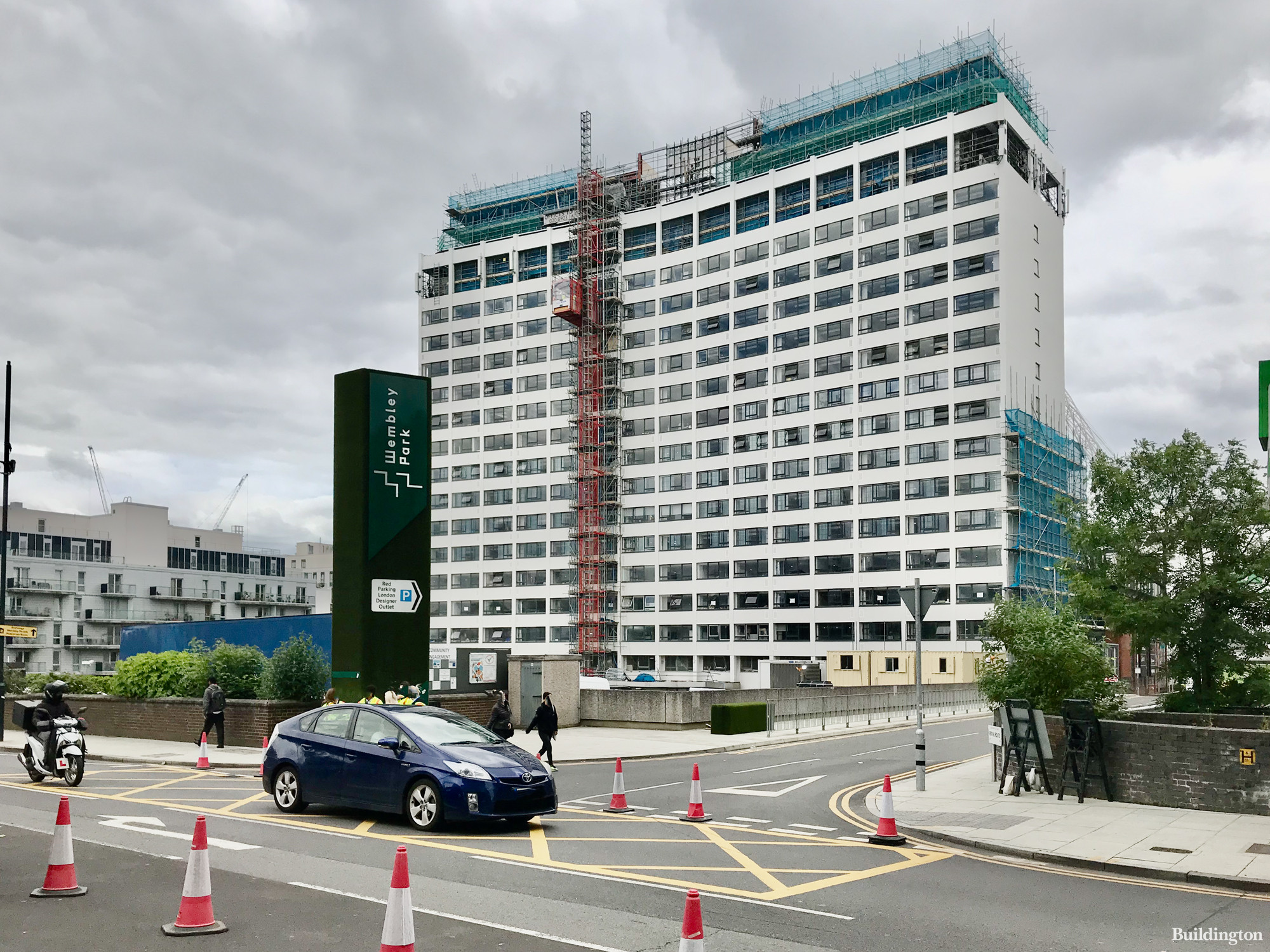 York House in June 2021 from Wembley Hill Road.