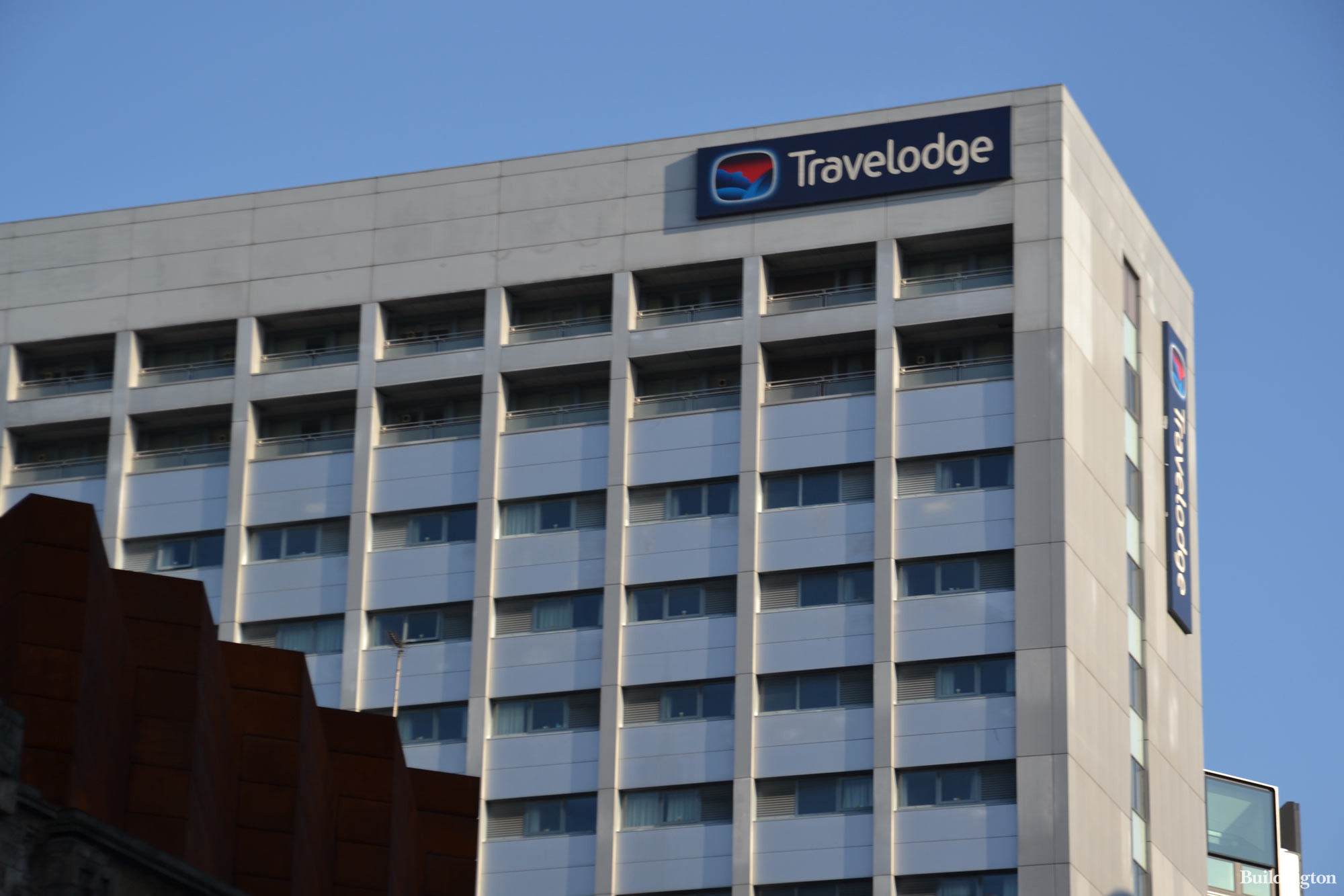Travelodge High Holborn hotel building is part of the Selkirk House development. From Shaftersbury Avenue