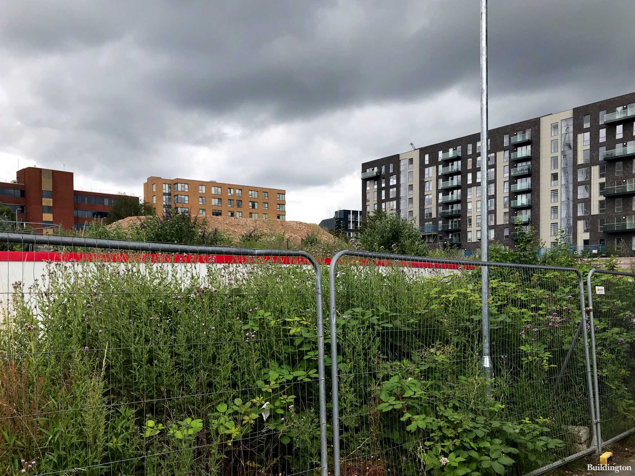 Back of the Copland Community School site off Cecil Avenue in July 2021.