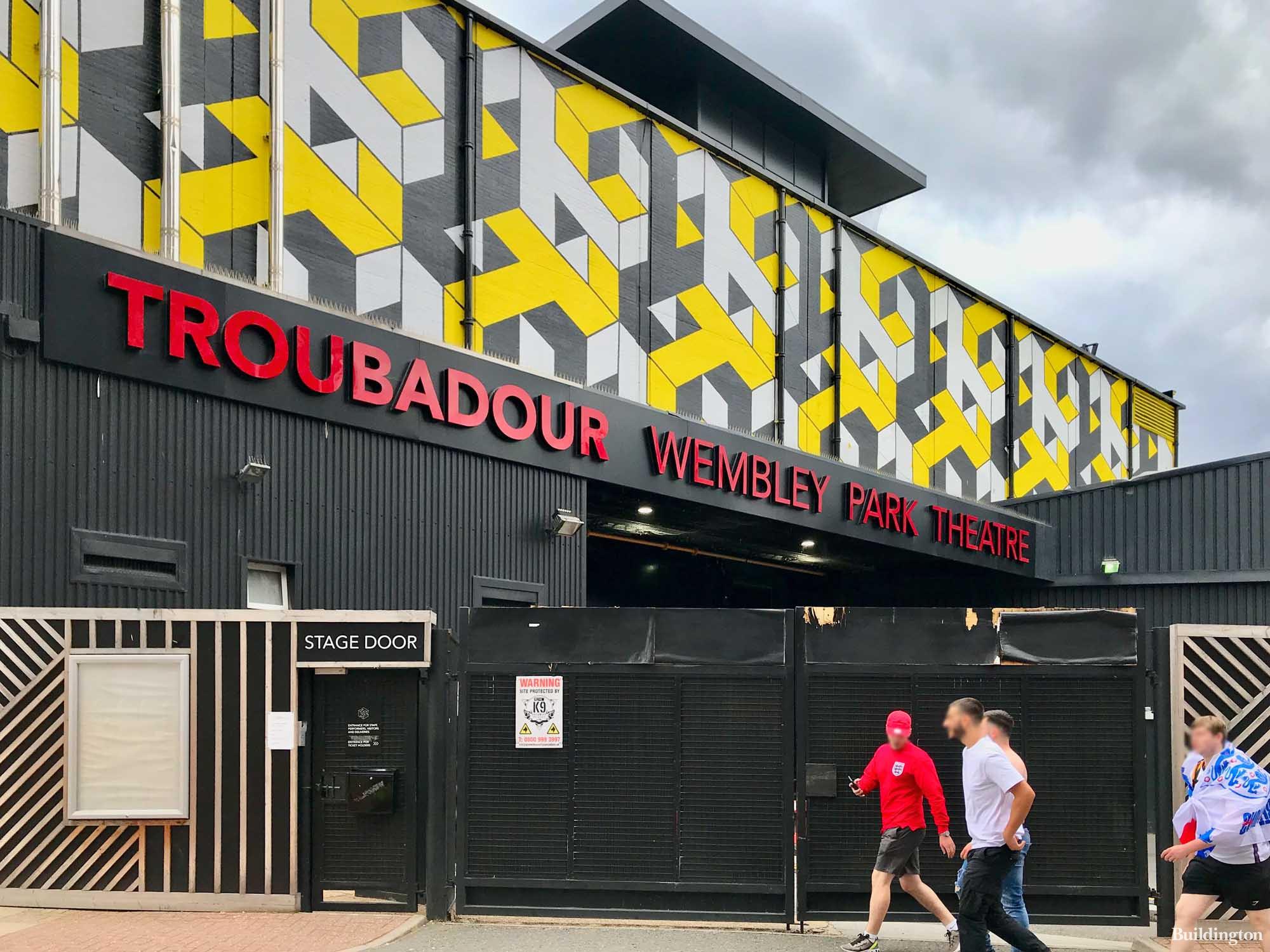 Troubadour Wembley Park Theatre building on Fulton Road.