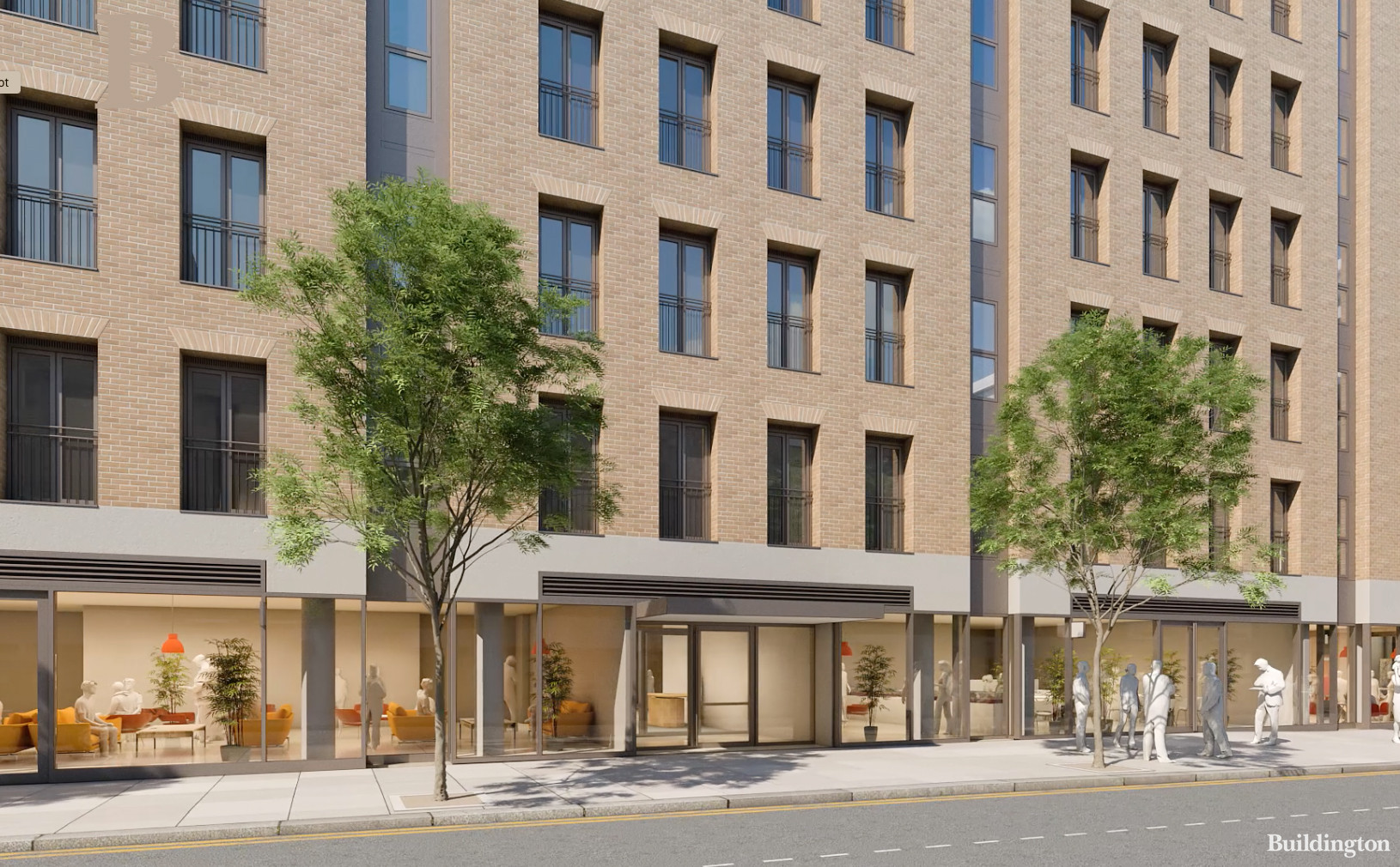 CGI of 100 George Street building designed by Hopkins Architects containing 35 apartments and 6 penthouses.