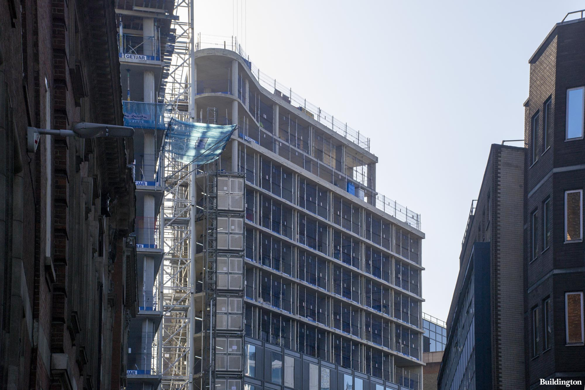Luminary London under construction in February 2020.